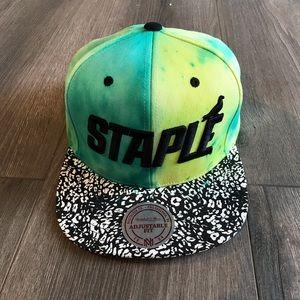 Staple Rare Dyed Lime Teal SnapBack Black Hat